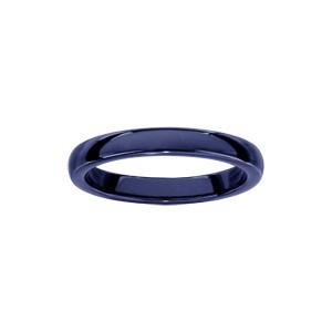 Alliance demi-jonc 3mm céramique bleu foncé - Vue 1