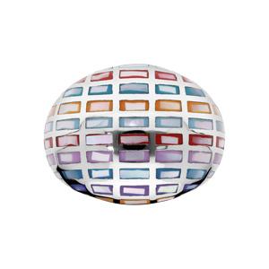 Bague Stella Mia en acier et nacre motifs géométrique multi couleur - Vue 1