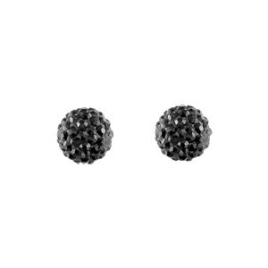 Boucles d'oreilles boules noires