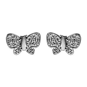 Fermoir papillon boucle d'oreille or