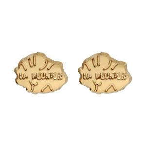 Boucles d'oreilles en plaqué or carte de l'île de la Réunion et fermoir tige à pousette
