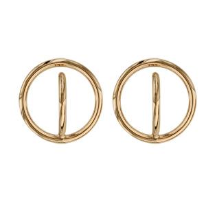 Boucles d'oreilles tige plaqué or 2 cercles