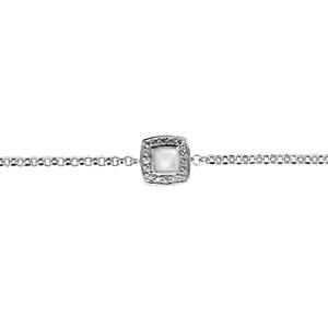 Bracelet argent nacre blanche