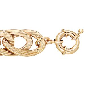 Bracelet doré grosse maille double 19+2,5cm - Vue 1