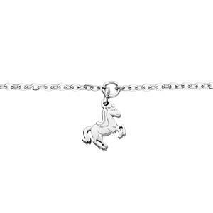 Bracelet en acier chaîne avec pampille licorne - 13+4cm - Vue 1
