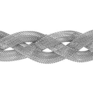 Bracelet en acier fermoir aimanté tresse 3 rangs 18cm - Vue 1