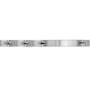 a522f76f0fd8 ... Bracelet en acier maillons lisses et plaque à graver - longuer 20cm +  1,5cm