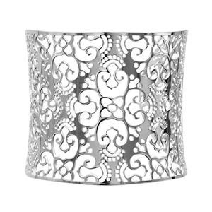 Bracelet en acier manchette motif filigrané - Vue 1