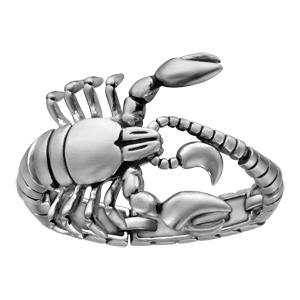 Bracelet en acier scorpion articulé - longueur 23,5cm - Vue 1