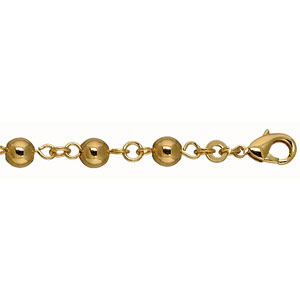 Bracelet en plaqué or boules marseillaises largeur 6mm et longueur 19cm - Vue 1