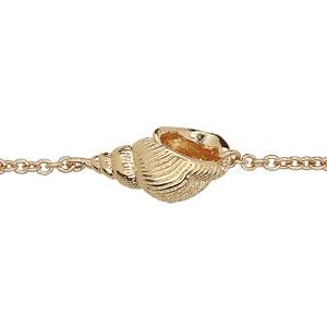 Bracelet en plaqué or chaîne avec coquillage longueur 16+2cm - Vue 1
