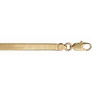 Bracelet en plaqué or chaîne maille miroir largeur 4mm et longueur 18cm - Vue 1