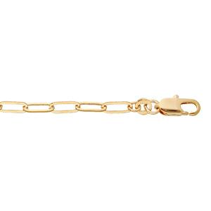 Bracelet en plaqué or mailles fines rectangulaires régulières 16+3cm - Vue 1