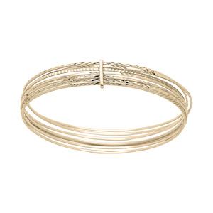 Bracelet en plaqué or semainier 65mm - Vue 1