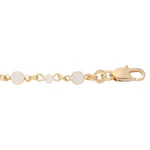 Bracelet en plaqué or tutti frutti pierres blanches 16+3cm - Vue 1