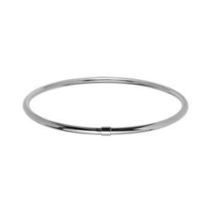 Bracelet jonc en acier fil lisse - Vue 1