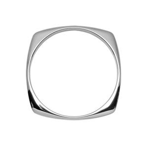 Bracelet jonc en acier forme rond à l'intérieur et carré à l'extérieur - diamètre 65mm