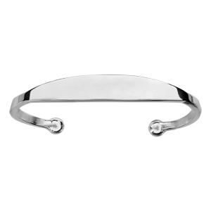 Bracelet jonc en argent esclave - grand modèle - Vue 1