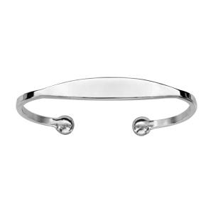 Bracelet jonc en argent esclave - moyen modèle - Vue 1