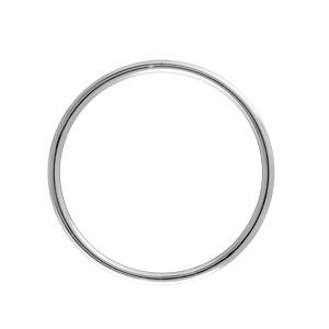 Bracelet jonc en argent massif largeur 3,8mm et diamètre 60mm - Vue 1