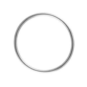 Bracelet jonc en argent massif largeur 3,8mm et diamètre 66mm - Vue 1