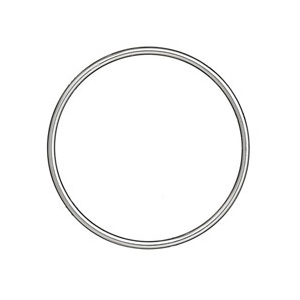 Bracelet jonc en argent massif largeur 3mm et diamètre 62mm - Vue 1