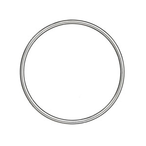 Bracelet jonc en argent massif largeur 3mm et diamètre 66mm - Vue 1