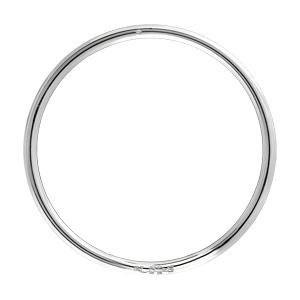 Bracelet jonc en argent rhodié  massif simple - diamètre 60mm - Vue 1