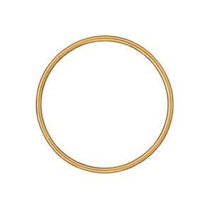 Bracelet jonc en plaqué or largeur 3mm et diamètre 62mm - Vue 1