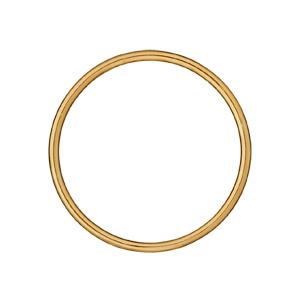 Bracelet jonc en plaqué or largeur 3mm et diamètre 65mm - Vue 1