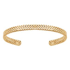 Bracelet plaqué or jonc diamantée diamètre 65x42mm - Vue 1