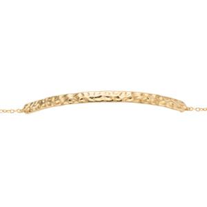 Bracelet plaqué or martelé - longueur 16+2cm - Vue 1