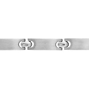 Bracelet pour enfant en acier maillons lisses - longueur 16cm - Vue 1