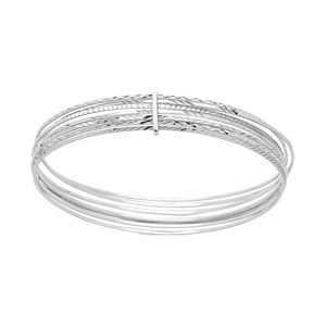 Bracelet semainier en argent rhodié longueur 65mm - Vue 1