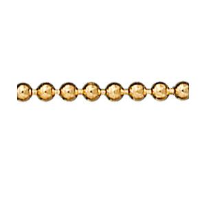 Chaîne de cheville en plaqué or chaîne boules - longueur 23cm - Vue 1