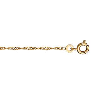 Chaîne de cheville en plaqué or mailles vrillées - longueur 23cm - Vue 1