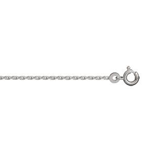 Chaîne en argent rhodié maille forçat 1,5mm longueur 60cm - Vue 1
