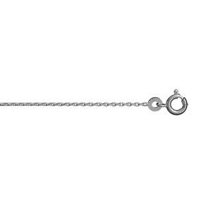 Chaîne en argent rhodié maille forçat largeur 1mm et longueur 38cm - Vue 1