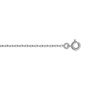 Chaîne en argent rhodié maille forçat largeur 2mm et longueur 45cm - Vue 1