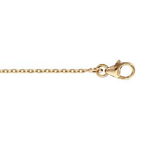 Chaîne en plaqué or maille forçat largeur 1,2mm et longueur 50cm - Vue 1