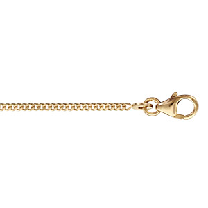 Chaîne en plaqué or maille serrée largeur 1,5mm et longueur 50cm - Vue 1
