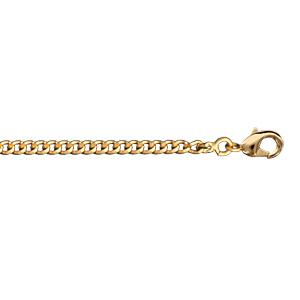 4a179b9fd2f66c Chaîne en plaqué or maille serrée largeur 2,1mm et longueur 55cm
