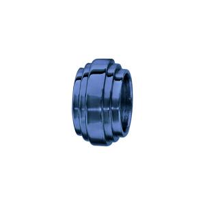 Charms Thabora en acier et PVD bleu forme godron