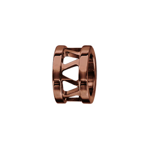 Charms Thabora en acier et PVD marron anneau ajouré