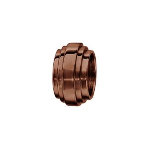 Charms Thabora en acier et PVD marron forme godron