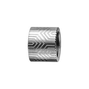 Charms Thabora en acier forme tube motif aztèque