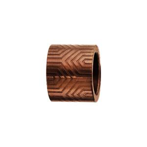 Charms Thabora en acier PVD marron forme tube motif aztèque