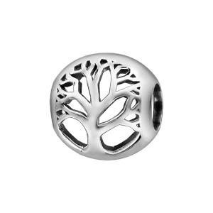 Charms Thabora en argent rhodié boule ajourée en arbre de vie - Vue 1