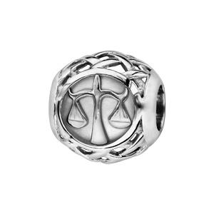 Charms Thabora en argent rhodié boule zodiaque balance - Vue 1