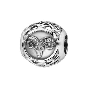 Charms Thabora en argent rhodié boule zodiaque bélier - Vue 1